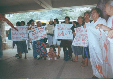 Ex-comfort women members of Lila Pilipina joining public employees against MWSS privatization and water rate increase